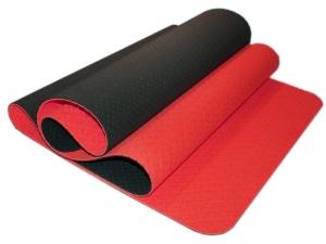 Коврик для йоги перфорированный 1800х600х0.5 мм. красно-чёрный