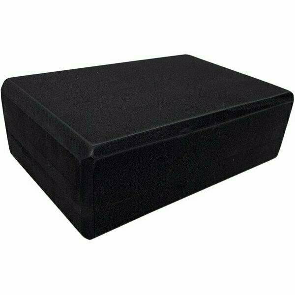 Йога блок полумягкий 223х150х76мм., A25574 черный BE100-7