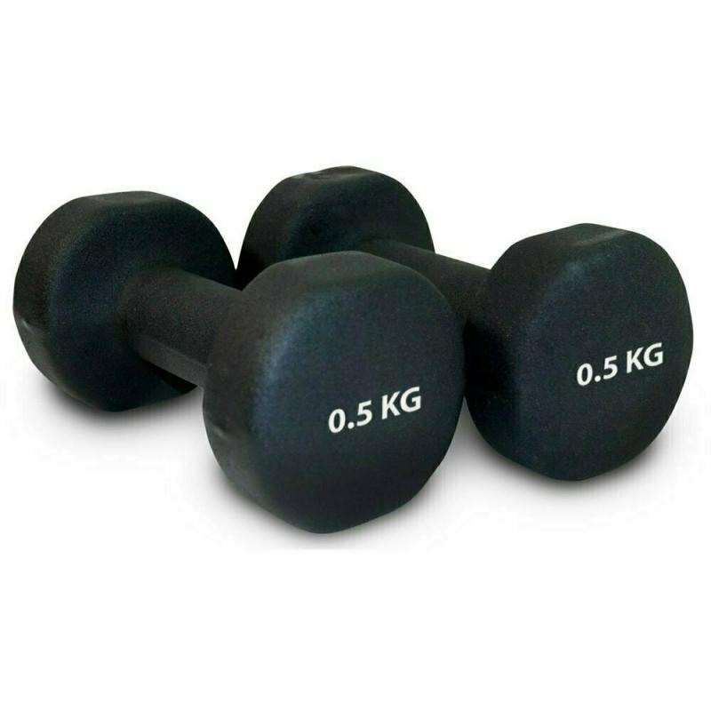 Гантель неопреновая 0,5 кг (черная) HKDB118-B