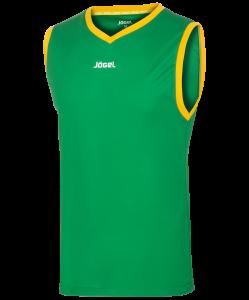 Майка баскетбольная JBT-1020-034, зеленый/желтый, Jögel