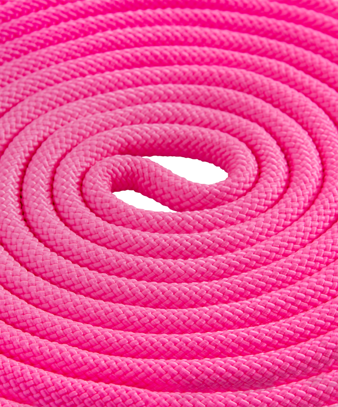 Скакалка для художественной гимнастики RGJ-204, 3м, розовый, Amely