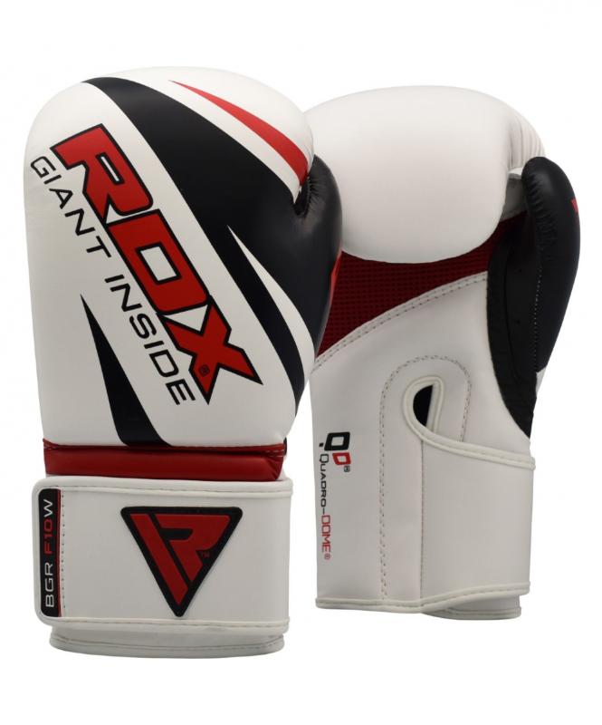 Перчатки боксерские REX F10 WHITE BGR-F10W, 12 oz, RDX