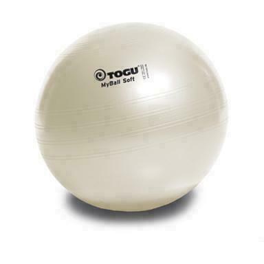 Мяч гимнастический TOGU My Ball Soft 55 см. белый перламутровый