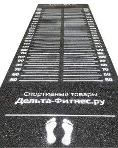 Дорожка для прыжков в длину с места 410x122x0,8 см. с мировым рекордом, Дельта-Фитнес