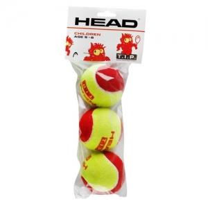 Мяч теннисный HEAD T.I.P Red, арт.578113,уп.3 шт, фетр,нат.резина,желто-красный
