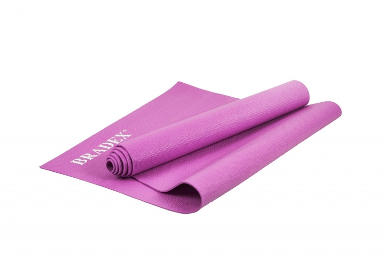 Коврик для йоги и фитнеса 173*61*0,3 розовый BRADEX SF 0401