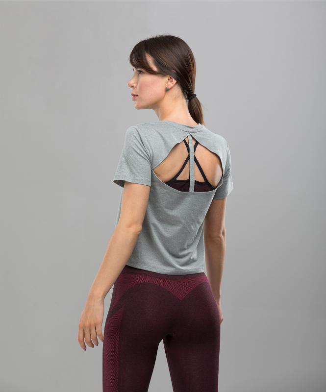 Женская спортивная футболка Balance FA-WT-0104, серый, FIFTY