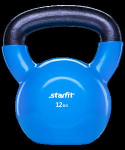 Гиря виниловая DB-401, синяя, 12 кг, Starfit