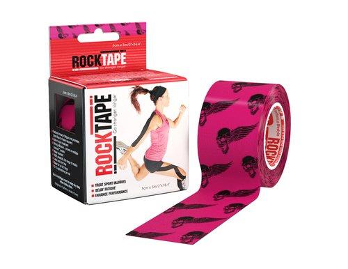 Кинезиотейп Rocktape Design, 5см х 5м, розовый череп