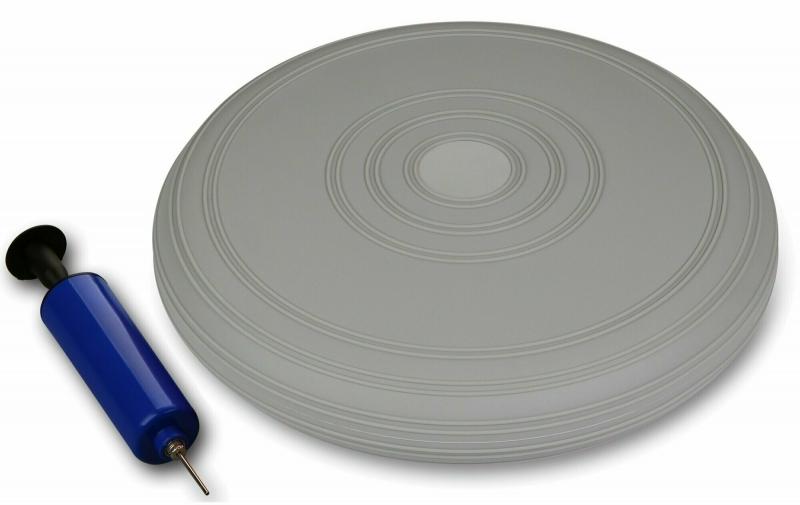 Диск балансировочный INDIGO с насосом IN173 33 см. cерый