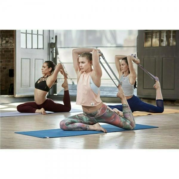 Ремень для йоги, премиум Reebok, Изумрудный /серый Арт. RAYG-10026