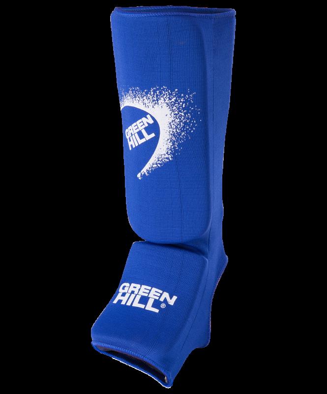 Защита голень-стопа SIC-6131, х/б, синяя, Green Hill