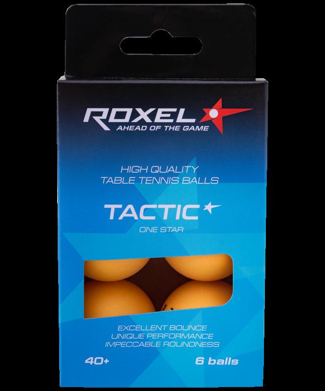 Мяч для настольного тенниса 1* Tactic, оранжевый, 6 шт., Roxel