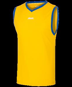 Майка баскетбольная JBT-1020-TEE-047, желтый/синий, Jögel