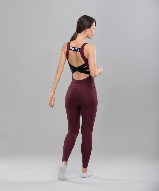 Женский спортивный комбинезон Balance FA-WO-0101, бордовый, FIFTY