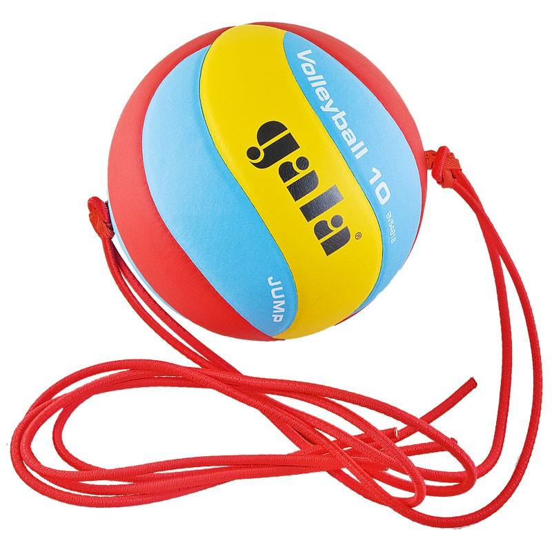 Мяч волейбольный на растяжках GALA Jump , арт.BV5481S, р.5, синтетическая кожа ПУ, клееный, бутиловая камера , красн-сине-желт