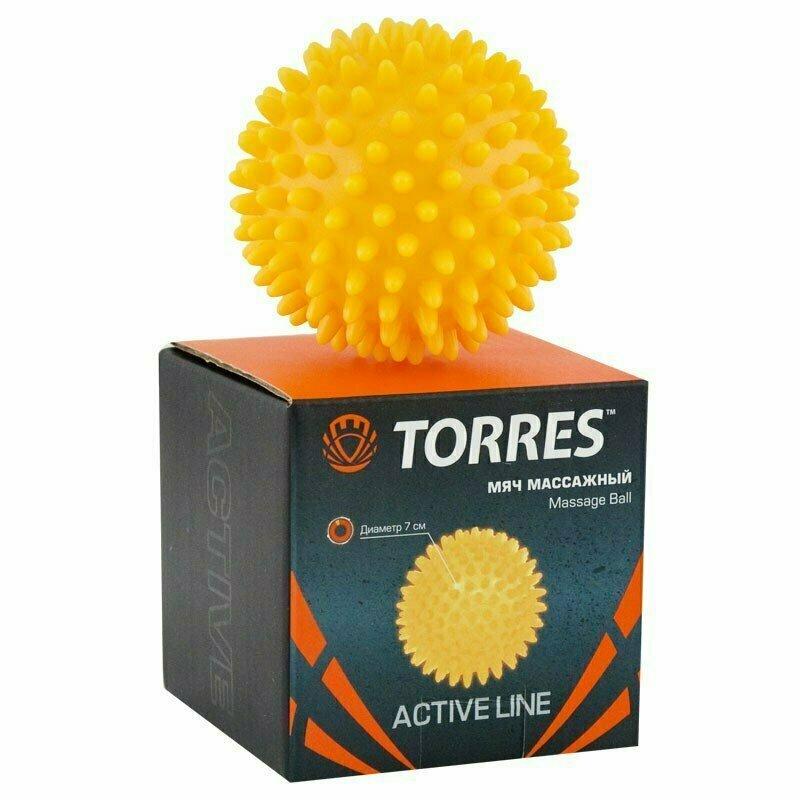 Мяч массажный TORRES , арт.AL100607, диам. 7 см, ПВХ с выступами 1 см