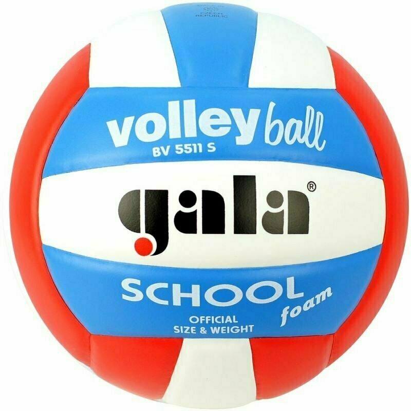 Мяч волейбольный  GALA School Foam Colour арт. BV5511S, р. 5, вспен.синтетическая кожа ПУ,клеен,бутиловая камера ,бел-гол-кр