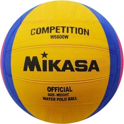 Мяч для водного поло  MIKASA W6600W р.5, муж, резина, вес 400-450гр. дл. окр 68-71см, жел-син-роз