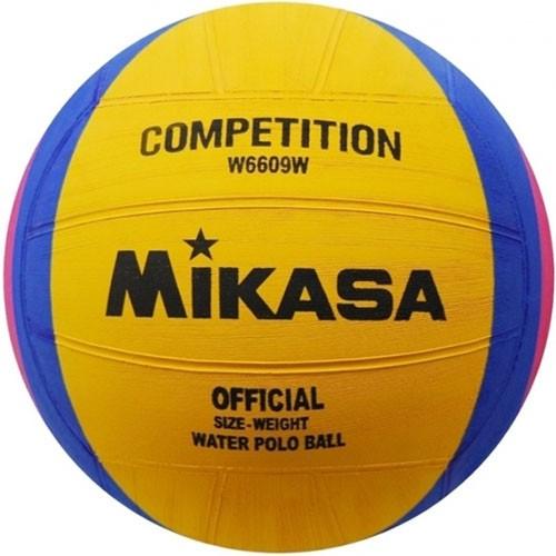 Мяч для водного поло  MIKASA W6609W р.4, жен, резина, вес 400-450гр, дл. окр.65-67см, жел-син-роз