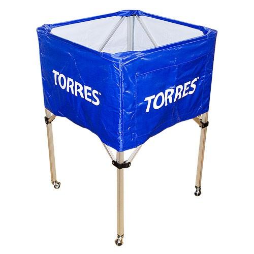 Тележка для мячей TORRES , арт.SS11022, на 25-30 шт., дл. 67см, глуб.45 см, выс.103 см, сине-белая