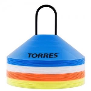 Фишки для разметки поля TORRES арт.TR1006, усеч. конусы, пластик, комп. из 40 шт, 4 цвета