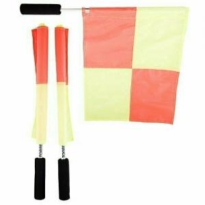 Флаги для боковых судей TORRES , арт. SS1031, 2 шт./компл, алюм. древко, неопрен.ручка,оранж-желтые