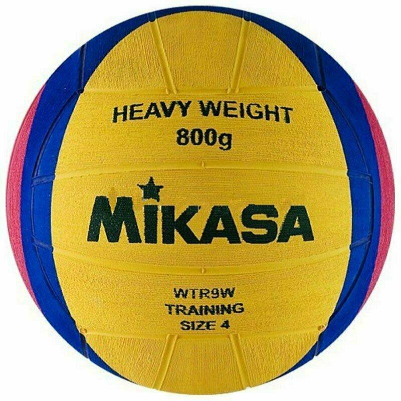 Мяч для водного поло MIKASA WTR9W р.4, жен, резина, вес 800 г, дл.окр. 65-67см,желто-сине-роз