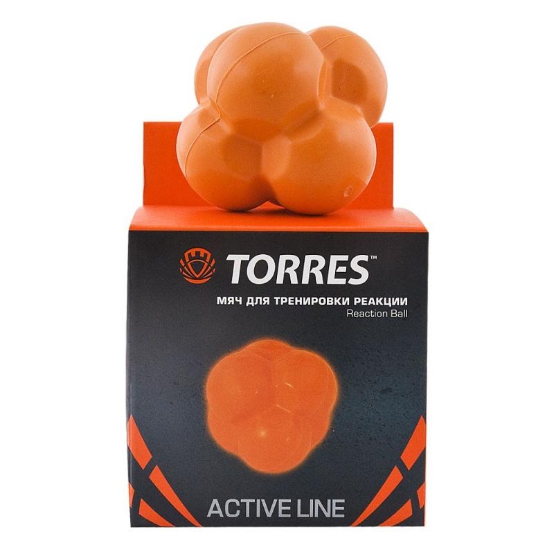 Мяч для тренировки реакции  TORRES Reaction ball арт.TL0008, диам. 8 см, резина, оранжевый