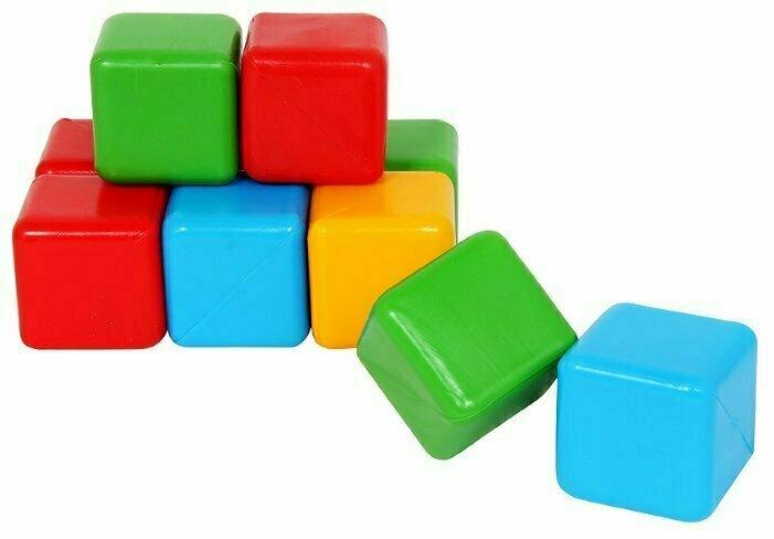 Кубики цветные пластик 14001