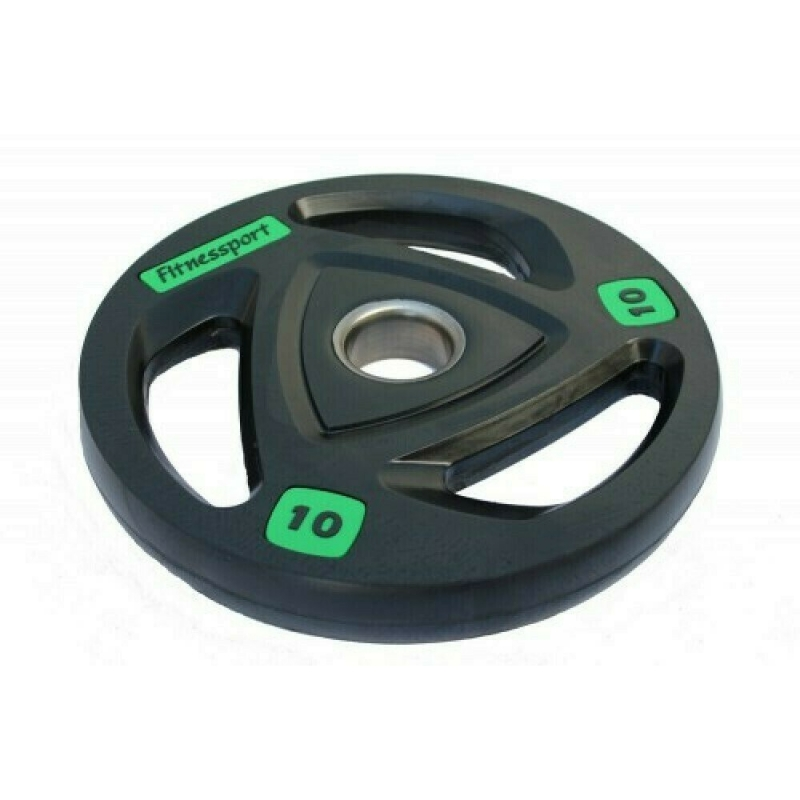 Диск олимпийский обрезиненный Fitnessport вес 10 кг. RCP17