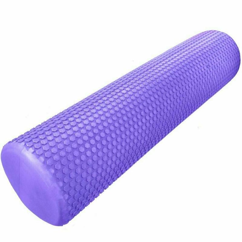 Ролик для йоги ЭВА 60х15 см фиолетовый Cliff