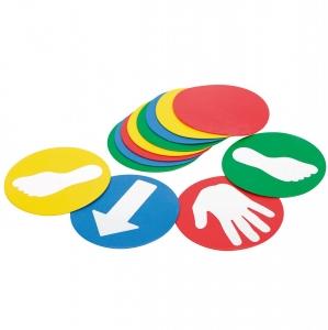 """Разметка для спортивных игр """"Резиновые метки EDUC-O-DISCS 12 штук Ledraplastic № 13466"""""""