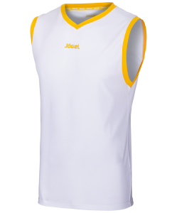 Майка баскетбольная JBT-1020-014, белый/желтый, детская, Jögel