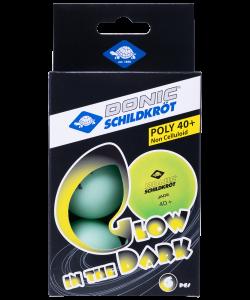 Мяч для настольного тенниса Glow in the dark, 6 шт., DONIC
