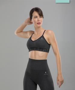Женский бесшовный спортивный бра-топ Balance FA-WB-0106, серый, FIFTY
