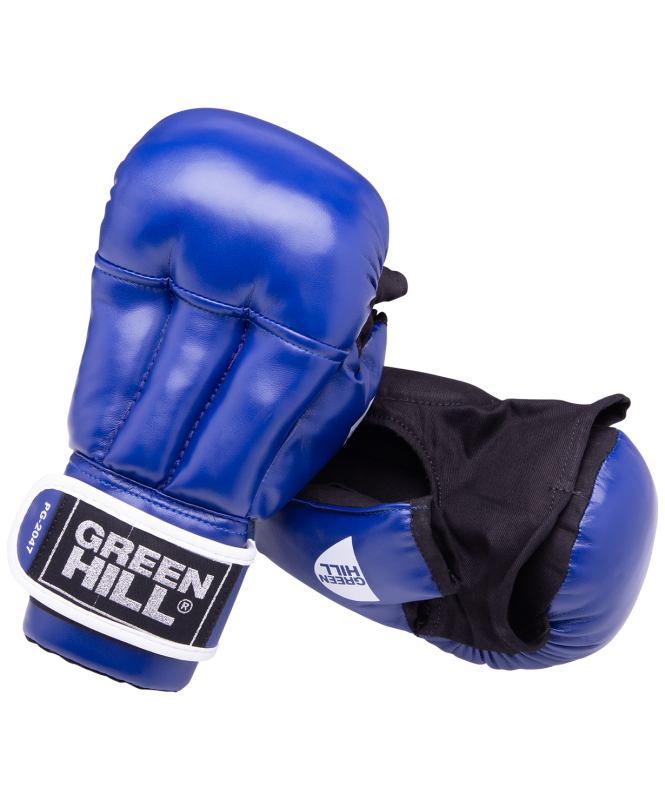 Перчатки для рукопашного боя PG-2047, к/з, синий, Green Hill