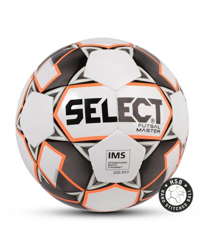 Мяч футзальный FUTSAL MASTER №4, бел/оранж/черн, Select