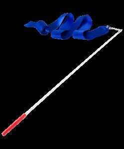 Лента для художественной гимнастики AGR-201 6м, с палочкой 56 см, синий, Amely
