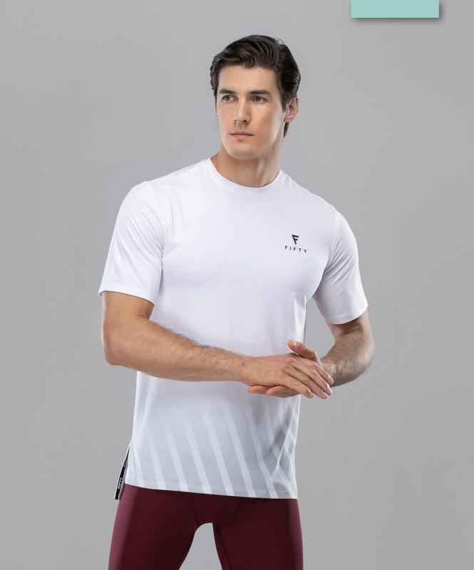 Мужская спортивная футболка Balance FA-MT-0105, белый, FIFTY