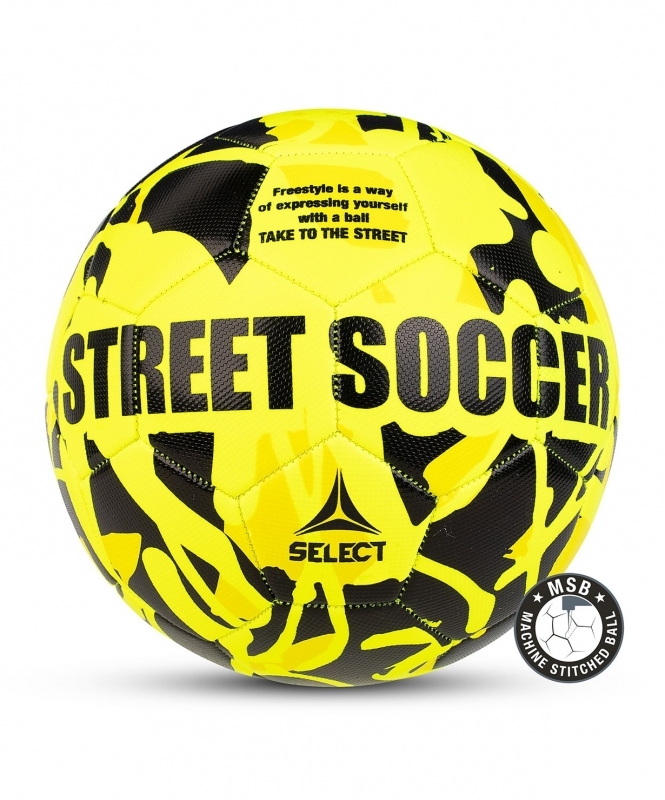 Мяч футбольный STREET SOCCER, №4,5,  жёл/чёр (для асфальта), Select