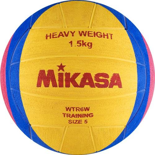 Мяч для водного поло MIKASA WTR6W р.5, муж, резина, вес 1500 г, дл. окр.68-71см, жел-син-роз
