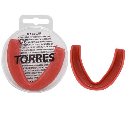 Капа TORRES арт. PRL1023RD, термопластичная, евростандарт CE approved, красный