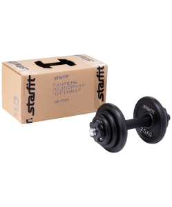 Гантель разборная чугунная в коробке DB-713, 9 кг , Starfit
