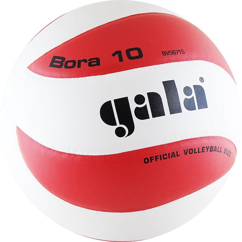 Мяч волейбольный  GALA Bora 10 арт. BV5671S, р. 5, синт. кожа ПУ, клееный, бут. кам, бело-красный