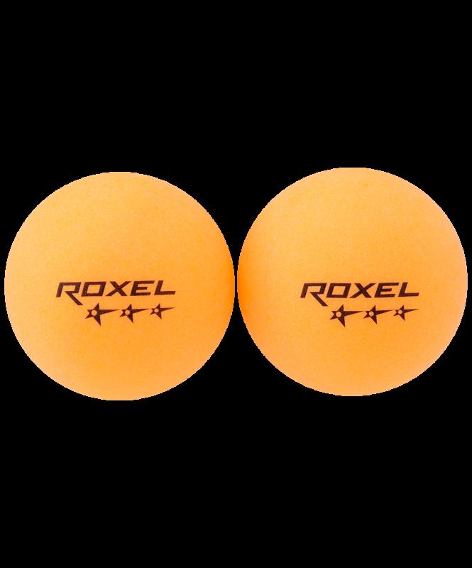 Мяч для настольного тенниса 3* Prime, оранжевый, 6 шт., Roxel