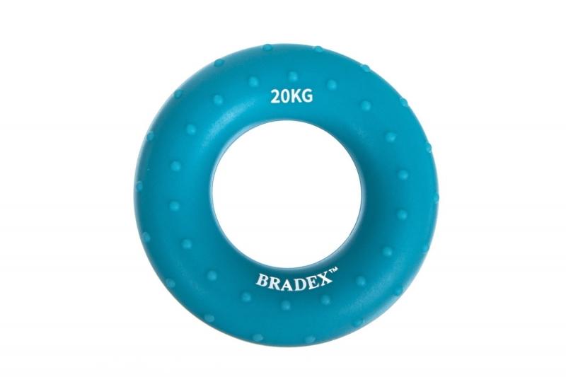 Кистевой эспандер 20 кг, круглый массажный, синий BRADEX SF 0570