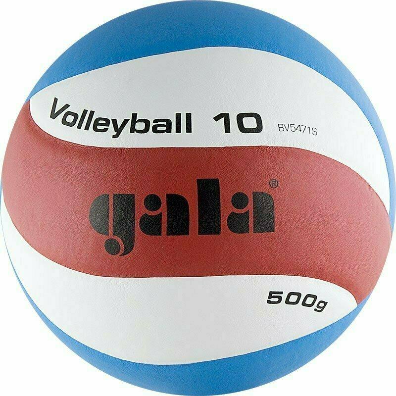 Мяч волейбольный  GALA Training Heavy 10  арт. BV5471S, р.5, вес 500 г,синтетическая кожа .ПУ,клееный,бутиловая камера ,бел-син
