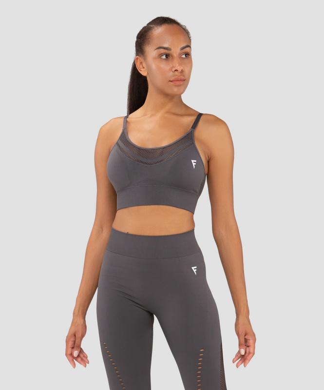 Женский бра-топ Essential Knit dark grey FA-WB-0202-DGR, темно-серый, FIFTY