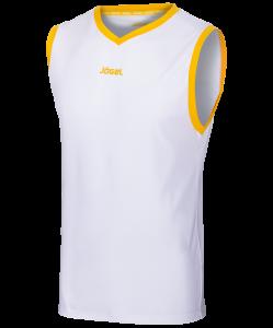 Майка баскетбольная JBT-1020-014, белый/желтый, Jögel